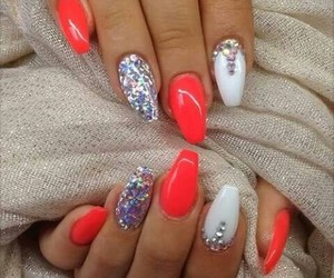colour, nail, and sparkling image