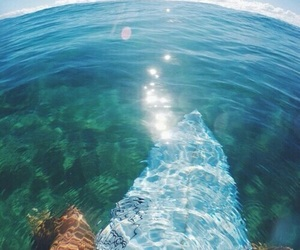 blue, summer, and deep image