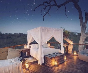 candles, outdoor, and stars image