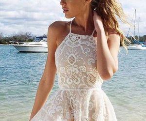 ivory prom dress, ivory prom dresses, and prom dress lace image