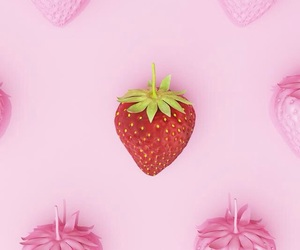 pink, red, and strawberry image