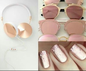 rose gold and 😍 image