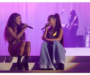 ariana grande, victoria monet, and dangerous woman image