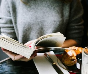 beauty, book, and food image