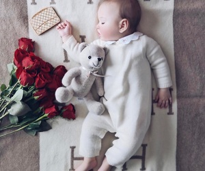 baby, red, and roses image