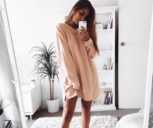 dress, girl, and interior image