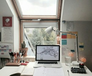 school, computer, and lamp image
