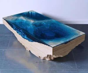 dream house, ocean, and table image