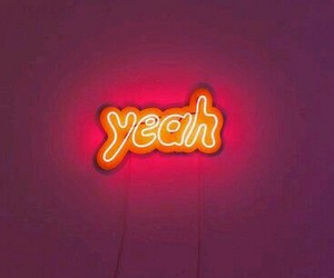 yeah, neon, and pink image