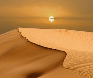 sun, nature, and desert image