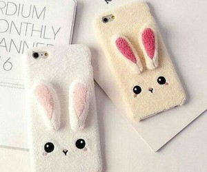 bunny, iphone, and rabbit image