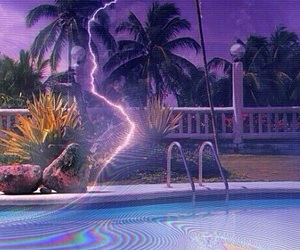grunge, lightning, and pool image