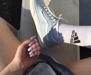 adidas, blue, and nails image