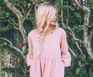 dress, blonde, and fashion image