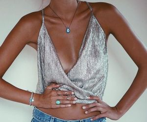 fashion, metallic, and outfit image