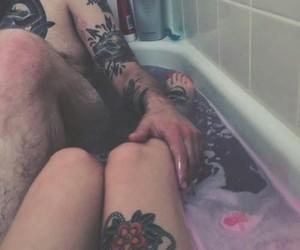 alternative, boy, and bath image