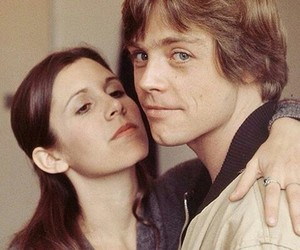 star wars, carrie fisher, and luke skywalker image