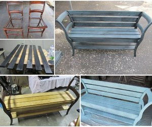 bench, chair, and diy image