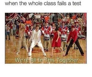 funny, high school musical, and test image