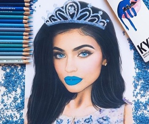 blue, art, and draw image