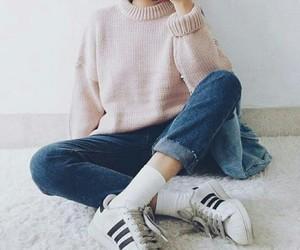 fashion, pink, and adidas image