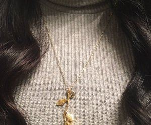 gold, love, and necklace image