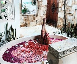 flowers, relax, and bath image
