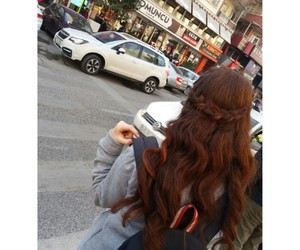 hair, red hair, and kızıl saç image