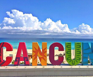 cancun, beach, and mexico image