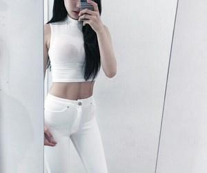 abs, asian girl, and clothes image