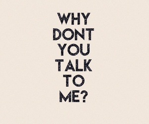 me, talk, and why image