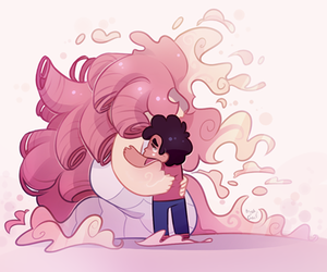 steven universe and rose quartz image