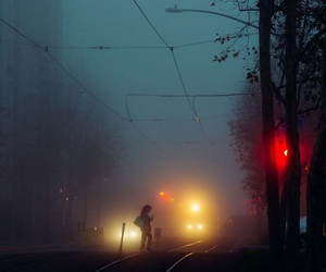 cold, dark, and foggy image