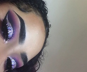 eyebrows, eyeshadow, and girl image
