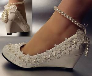 bride, fashion, and shoes image