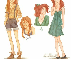 harry potter, ginny weasley, and lily evans image