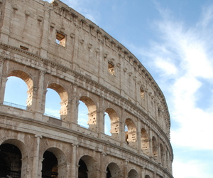 colosseum, italy, and winter image