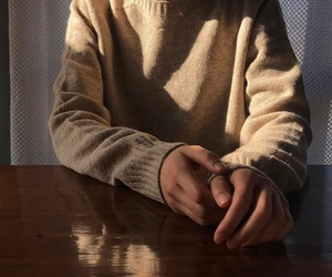 aesthetic, sweater, and hands image