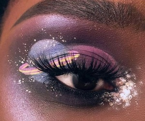 makeup, art, and eyes image