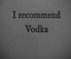 vodka, drink, and quotes image
