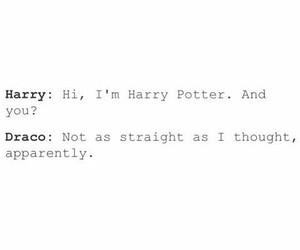draco malfoy, gay, and harry potter image