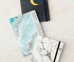notebook, journal, and marble image