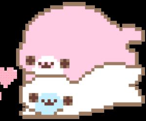pixel, kawaii, and pink image