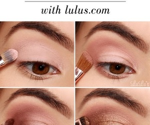 makeup, tutorial, and eye image