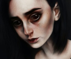 art, creepy, and elena sai image