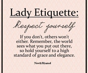 quote, lady, and respect image