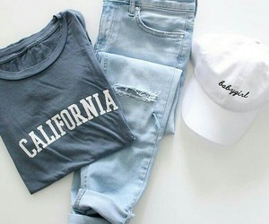 outfit, jeans, and shirt image
