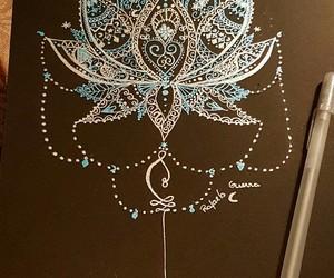 boho, draw, and flower image