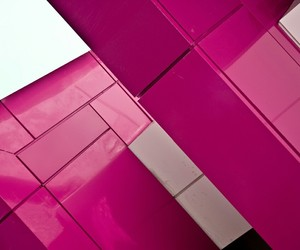 angle, architecture, and pink and white image