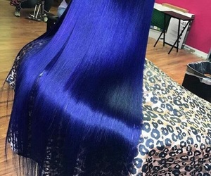 blue, hair, and weave image